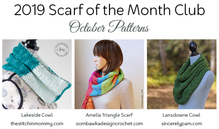 2019 Scarf of the Month Club hosted by The Stitchin' Mommy and Oombawka Design - October Patterns #ScarfoftheMonthClub2019 | www.thestitchinmommy.com