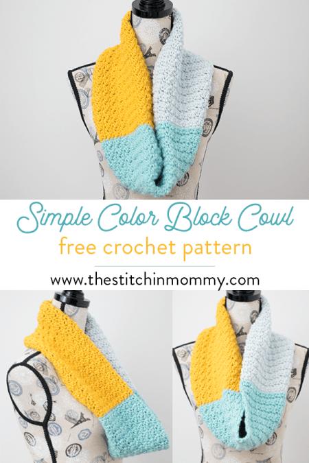 Simple Color Block Cowl - Free Crochet Pattern | www.thestitchinmommy.com #holidaystashdowncal2018 #holidaystashdowncal #loveknitting #calcentralcrochet #holidaystashdown