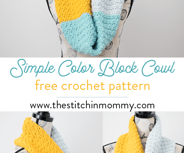Simple Color Block Cowl – Free Crochet Pattern