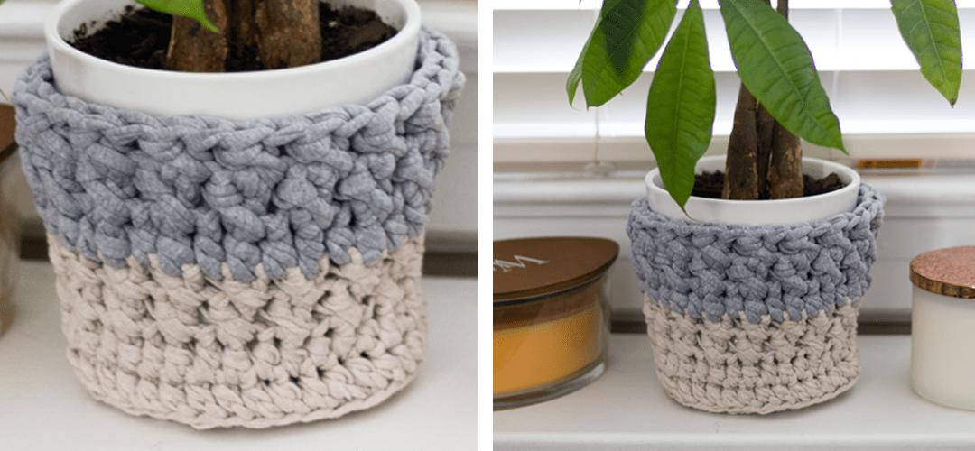Simple Flower Pot Cozy – Free Crochet Pattern