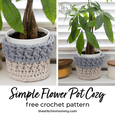 Simple Flower Pot Cozy – Free Crochet Pattern