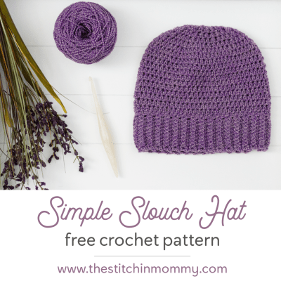 Simple Slouch Hat – Free Crochet Pattern