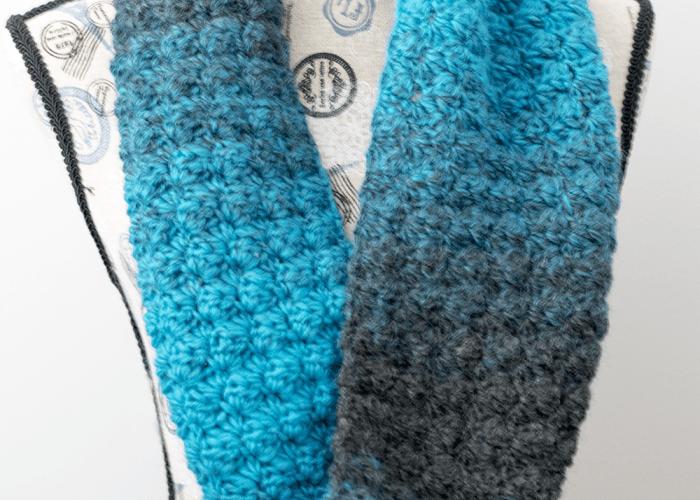 Simply Aqua Infinity Scarf – Free Crochet Pattern