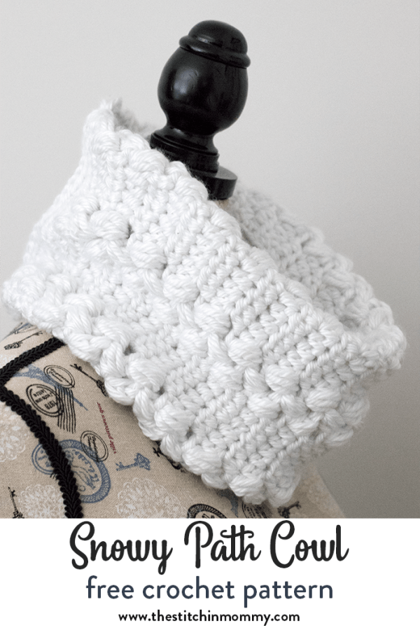 Snowy Path Cowl Free Crochet Pattern Make It For Me 2018 The