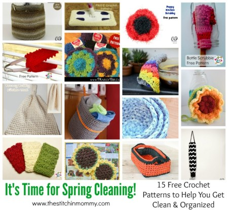 It's Time for Spring Cleaning! 15 Free Crochet Patterns to Help You Get Clean and Organized - Round Up compiled by The Stitchin' Mommy | www.thestitchinmommy.com