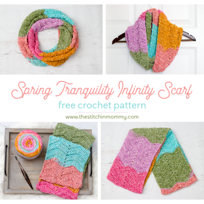 Spring Tranquility Infinity Scarf – Free Crochet Pattern