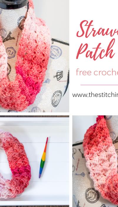 Strawberry Patch Cowl – Free Crochet Pattern
