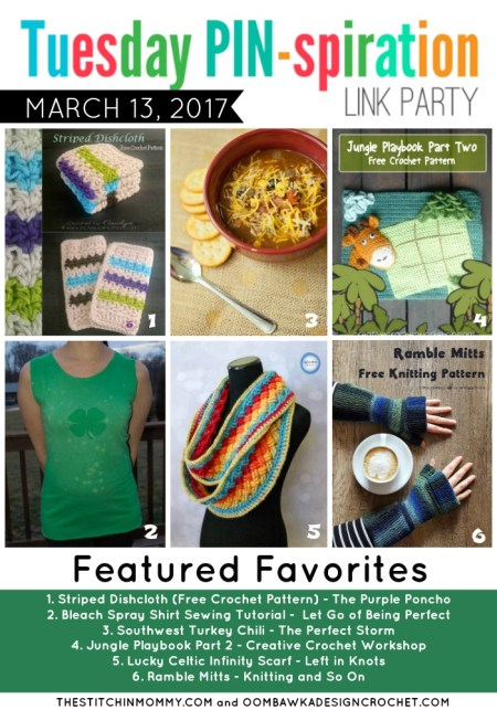 The NEW Tuesday PIN-spiration Link Party Week 28 (3/13/2017) - Rhondda and Amy's Favorite Projects | www.thestitchinmommy.com