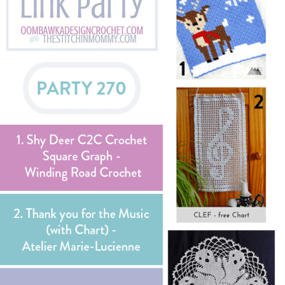The Wednesday Link Party 270 featuring Shy Deer C2C Crochet Square Graph