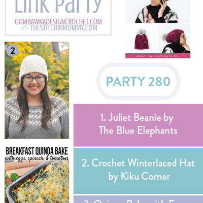The Wednesday Link Party 280 featuring the Juliet Beanie