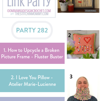 The Wednesday Link Party 282 featuring Upcycled Broken Picture Frame