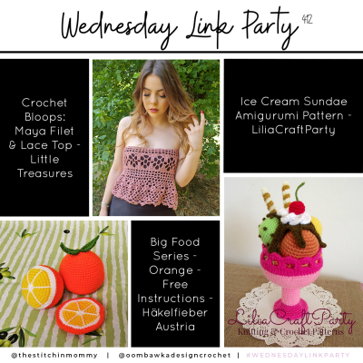 The Wednesday Link Party 412 featuring the Maya Filet & Lace Top