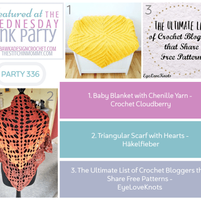 The Wednesday Link Party 336 featuring Baby Blanket with Chenille Yarn