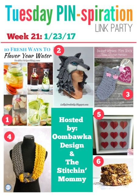 The NEW Tuesday PIN-spiration Link Party Week 21 (1/23/2017) - Rhondda and Amy's Favorite Projects   www.thestitchinmommy.com