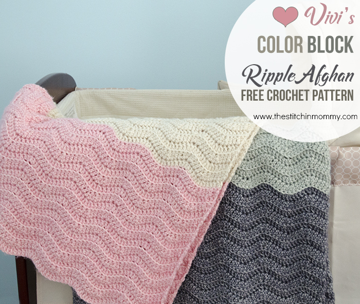 Vivi\'s Color Block Ripple Afghan - Free Crochet Pattern - The ...