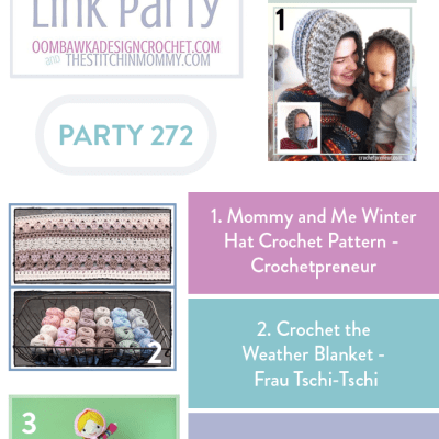 The Wednesday Link Party 272 featuring Mommy and Me Winter Hat Crochet Pattern