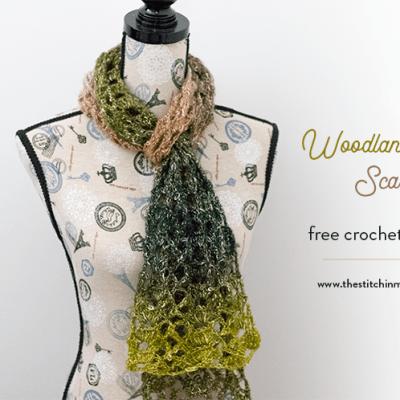 Woodland Lace Scarf – Free Crochet Pattern