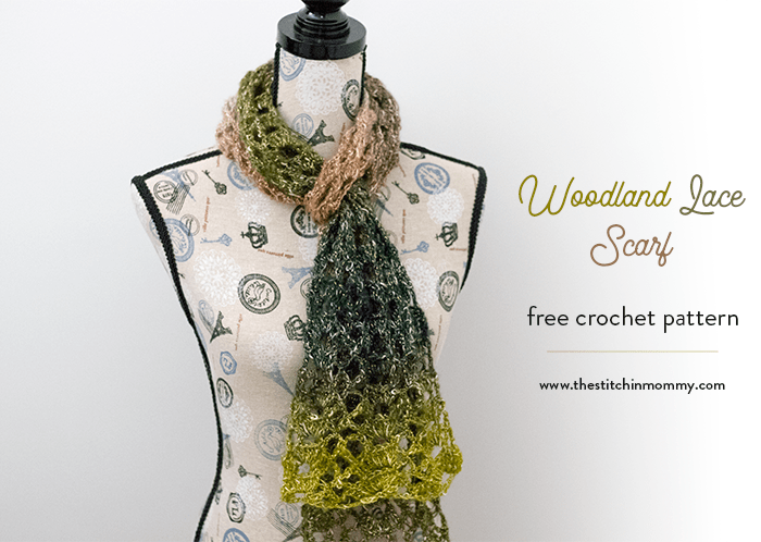 Woodland Lace Scarf Free Crochet Pattern The Stitchin Mommy