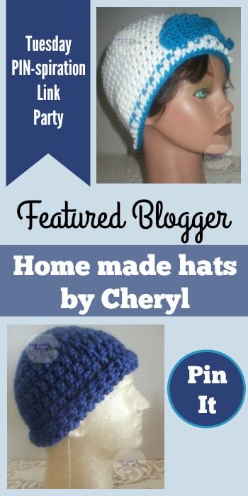 Tuesday PIN-spiration Link Party Featured Blogger - Home made hats by Cheryl | www.thestitchinmommy.com