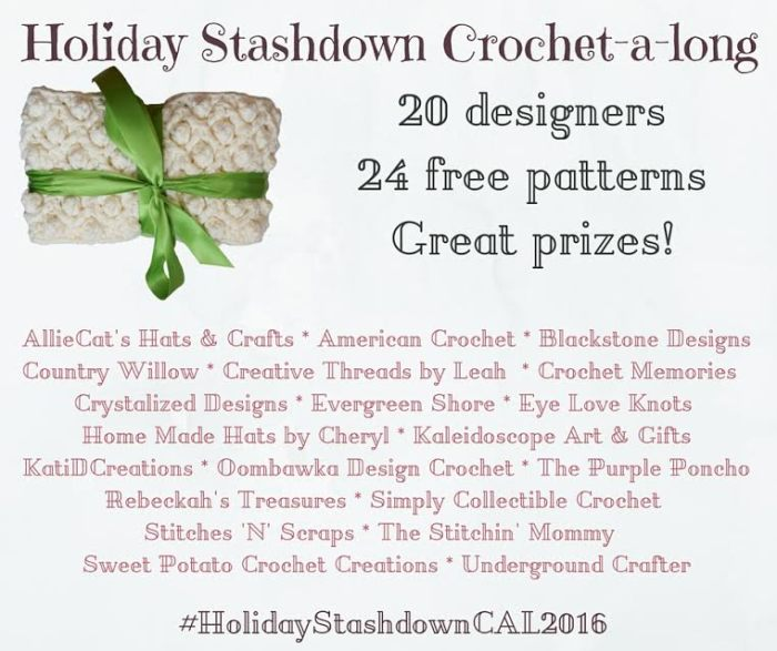 Holiday Stashdown Crochet-a-long 2016 Edition | www.thestitchinmommy.com