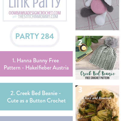 The Wednesday Link Party 284 featuring Hanna Bunny