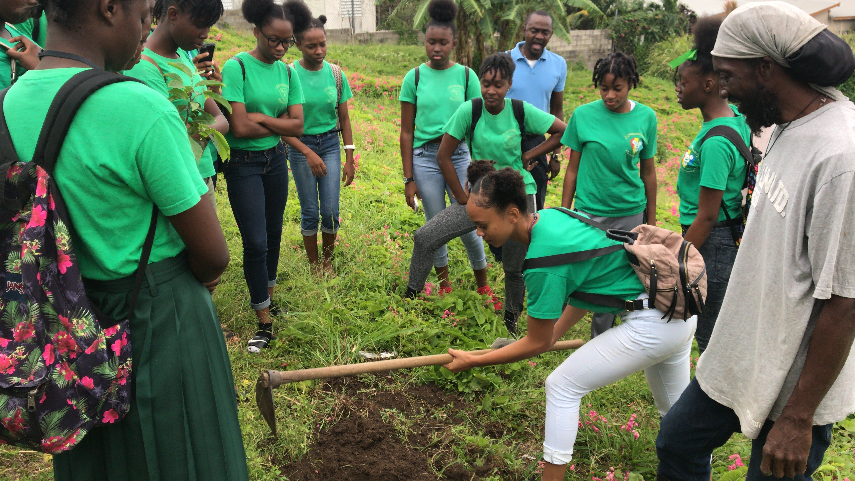 Cayon School Environment Club gets head start for National