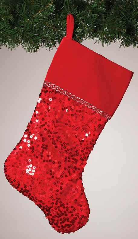 VELVET or Elegant Christmas Stockings Sequins Velvet Satin WHITE LACE