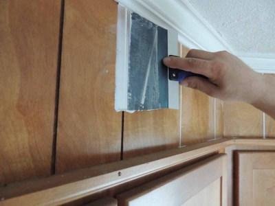 paneling-getting-spackle-to-look-like-drywall