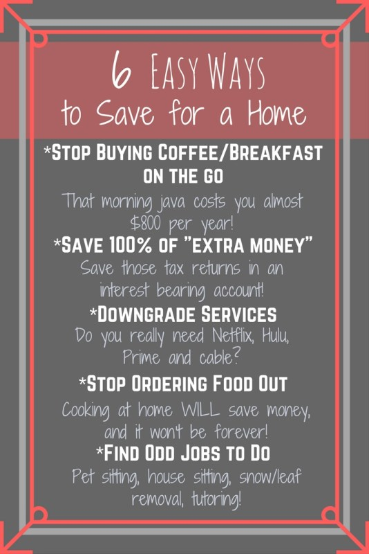 simple Ways to Save for a Home