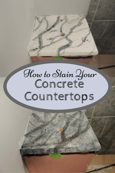 how to stain a concrete countertop