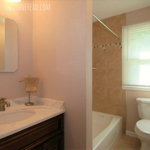 flipping houses for a living hall bathroom after