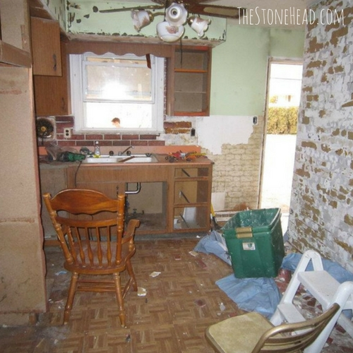 flipping houses for a living kitchen before