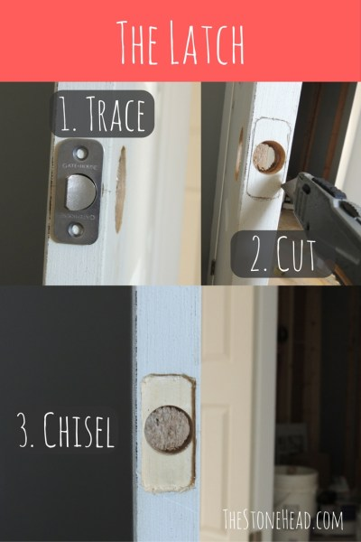 How to install a door knob, installing the latch.