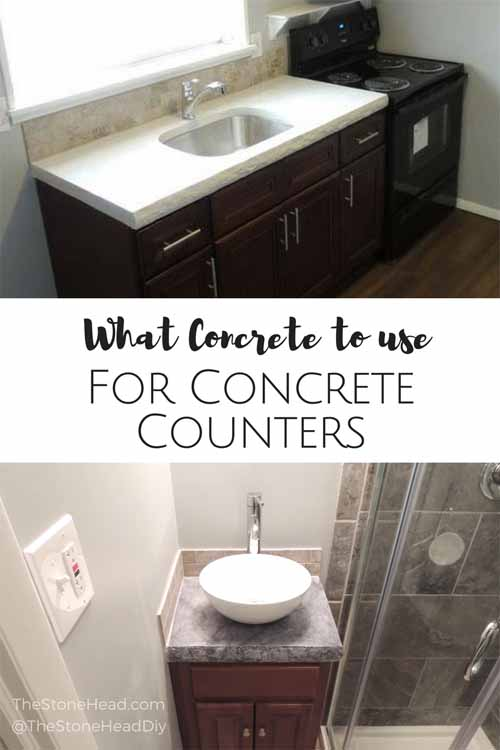 What Concrete To Use For Concrete Countertops