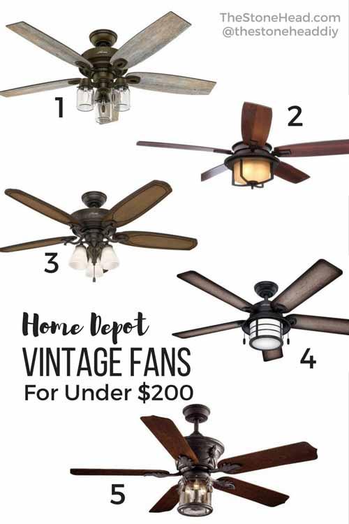 Vintage Ceiling Fans for Under $200