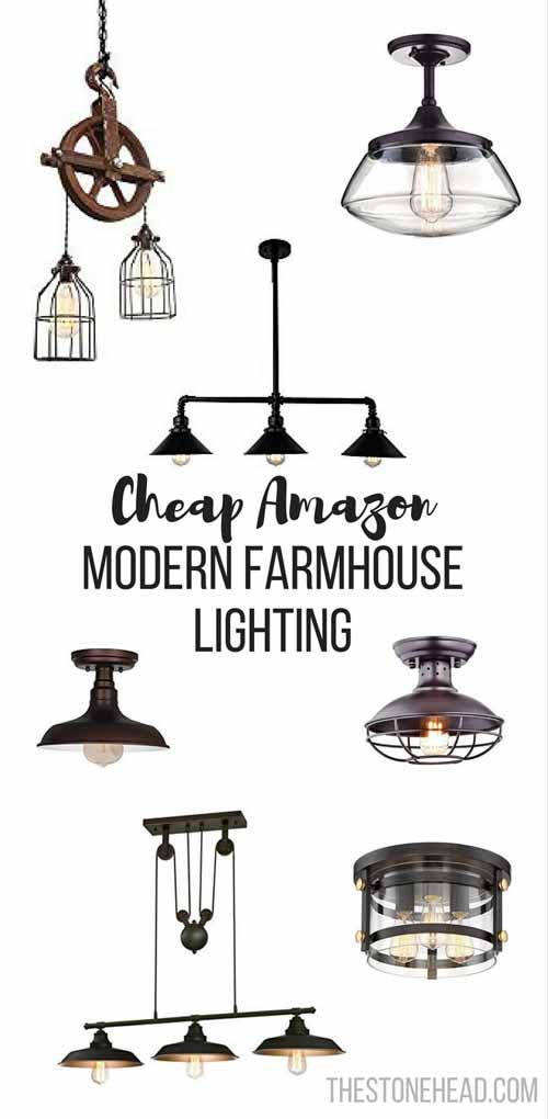 cheap modern farmhouse lighting