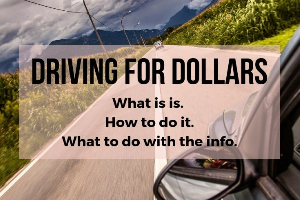 how to drive for dollars