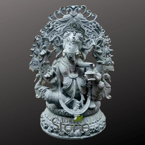 Ganesha Black Stone in Sitting Position