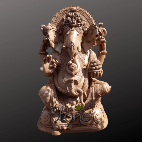 Ganesh Statue Sand Stone in Sitting Position