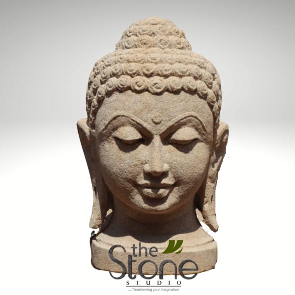 Buddha Head Sculpture in SandStone