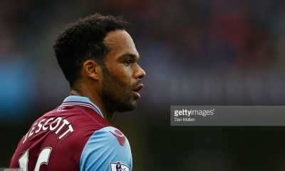 Joleon Lescott of Aston Villa during the Barclays Premier League match between Aston Villa and West Bromwich Albion at Villa Park on September 19, 2015 in Birmingham, United Kingdom.
