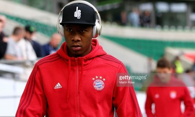David Alaba of Muenchen looks on before the Bundesliga match between VfL Wolfsburg and FC Bayern Muenchen at Volkswagen Arena on February 27, 2016 in Wolfsburg, Germany.