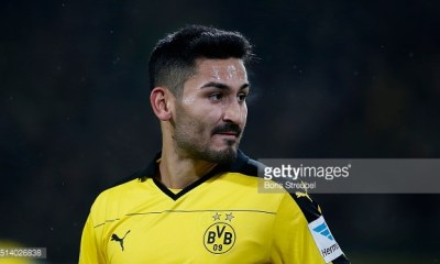 DORTMUND, GERMANY - MARCH 05: Ilkay Guendogan of Borussia Dortmund looks on during the Bundesliga match between Borussia Dortmund and FC Bayern Muenchen at Signal Iduna Park on March 5, 2016 in Dortmund, Germany.bs (Photo by Boris Streubel/Getty Images)