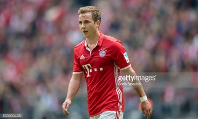 MUNICH, GERMANY - MAY 14: Mario Goetze of Muenchen looks on during the Bundesliga match between FC Bayern Muenchen and Hannover 96 at Allianz Arena on May 14, 2016 in Munich, Germany. (Photo by Boris Streubel/Getty Images)