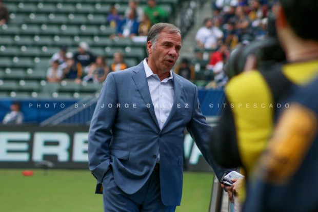 Bruce Arena of the LA Galaxy 10/30/2016. Photo by Jorge Galvez. The Stoppage Time