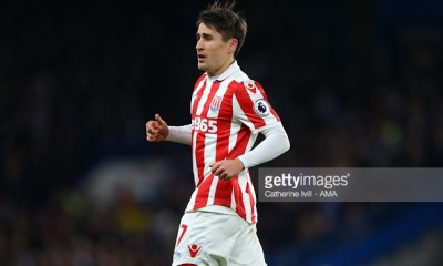 LONDON, ENGLAND - DECEMBER 31: Bojan Krkic of Stoke City during the Premier League match between Chelsea and Stoke City at Stamford Bridge on December 31, 2016 in London, England. (Photo by Catherine Ivill - AMA/Getty Images)