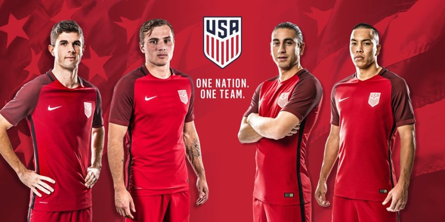 US Soccer 3rd Red Jersey 2017 Twitter Pic Men