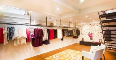 London fashion pop-up shop