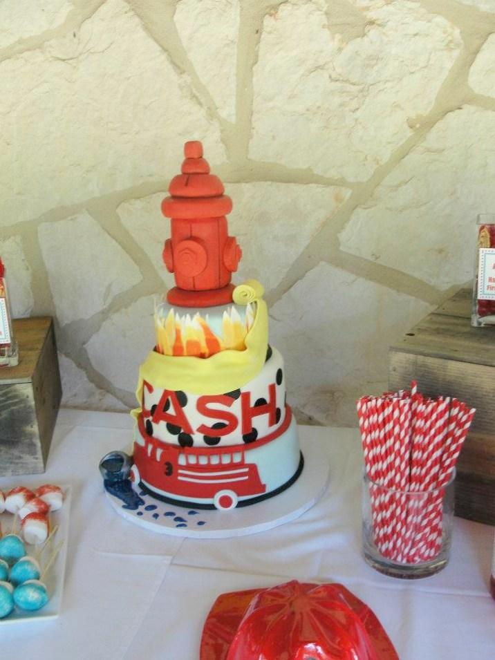 Fireman Birthday Party Cake