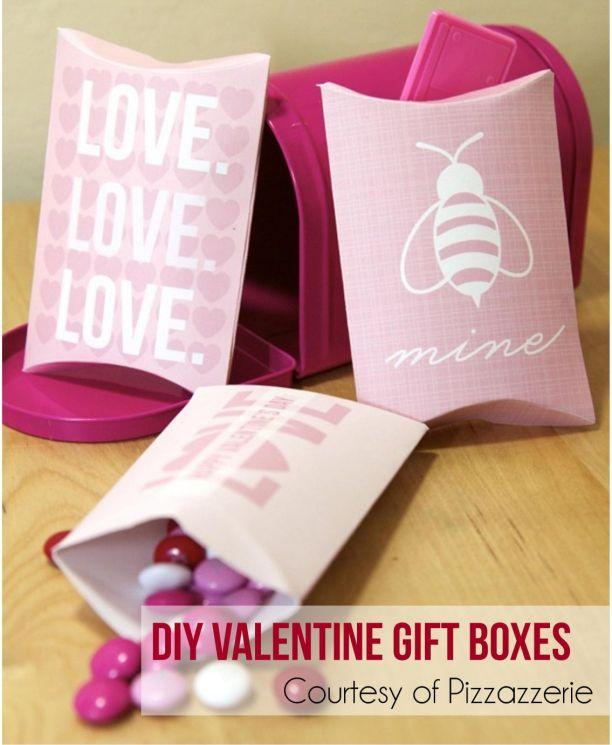 DIY Valentine Gift Boxes
